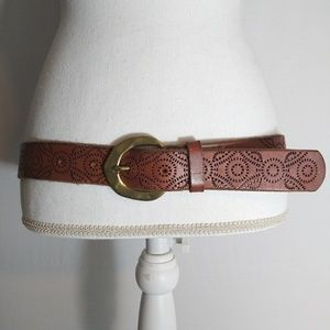 Cleobella for Lucky Brand Perforated LEATHER Belt